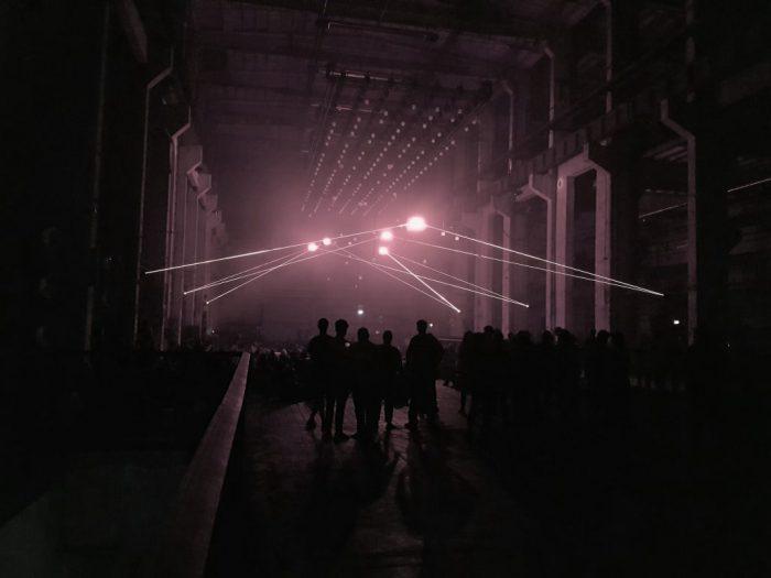 Multimedia installation on the Techno Club theme